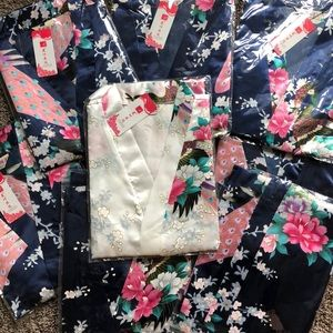 Intimates & Sleepwear - 8 dark blue robes - blue and white NWT